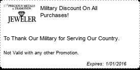 Coupon Military Discount On All Purchases!