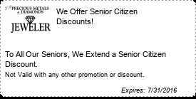 Coupon We Offer Senior Citizen Discounts!