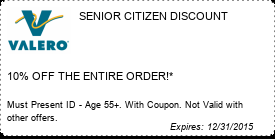 Coupon SENIOR CITIZEN DISCOUNT