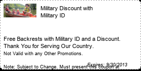 Coupon Military Discount with Military ID