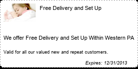 Coupon Free Delivery and Set Up