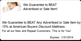 Coupon We Guarantee to BEAT Advertised or Sale Item!
