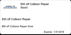 Coupon $50 off Collision Repair Work!