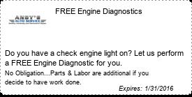 Coupon FREE Check Engine Light Diagnostics