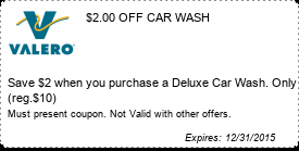 Coupon $2.00 OFF CAR WASH