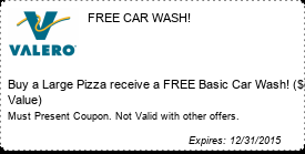 Coupon FREE CAR WASH!