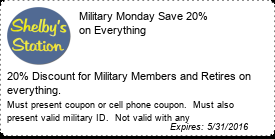 Coupon Military Monday Save 20% on Everything