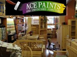 logo Ace Paints and Unfinished Furniture Pittsburgh
