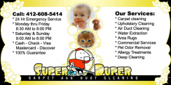 Super Duper Carpet and Duct Cleaning Pittsburgh Logo