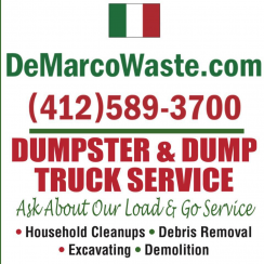 DeMarco Waste and Dumpster Service Logo