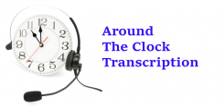 Around The Clock Transcription Service Logo